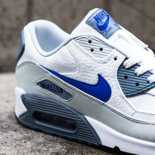 Nike Air Max 90 - Summit White / Lyon Blue - Grey Mist 2