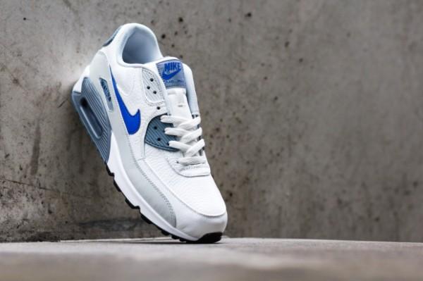 Nike Air Max 90 - Summit White / Lyon Blue - Grey Mist 3