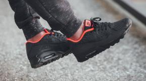 Nike Air Max 90 Ultra Moire FB – Black/Anthracite-Total Crimson