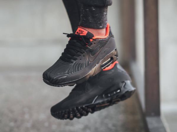 Nike Air Max 90 Ultra Moire FB - Black/Anthracite-Total Crimson 3