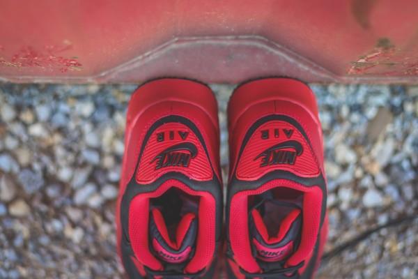 Nike Air Max 90 Winter PRM - Gym Red/Black 8
