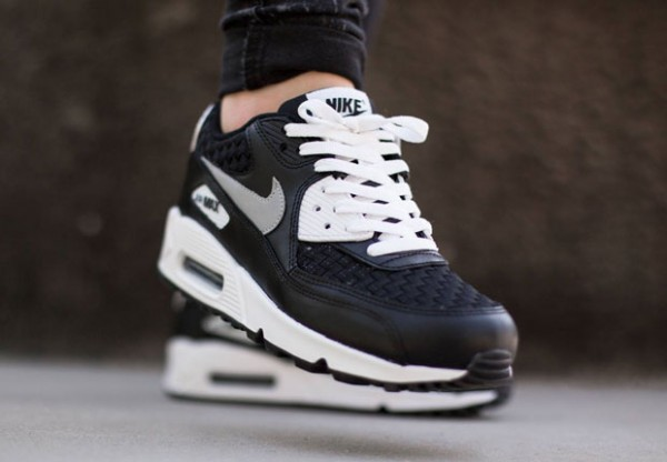 Nike Air Max 90 Woven - White / Reflect Silver - Black 2