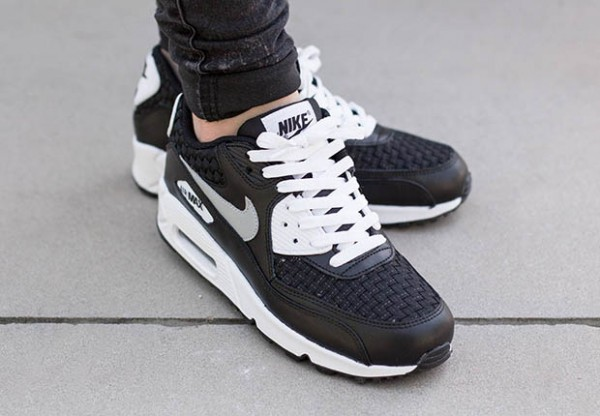 Nike Air Max 90 Woven - White / Reflect Silver - Black 3