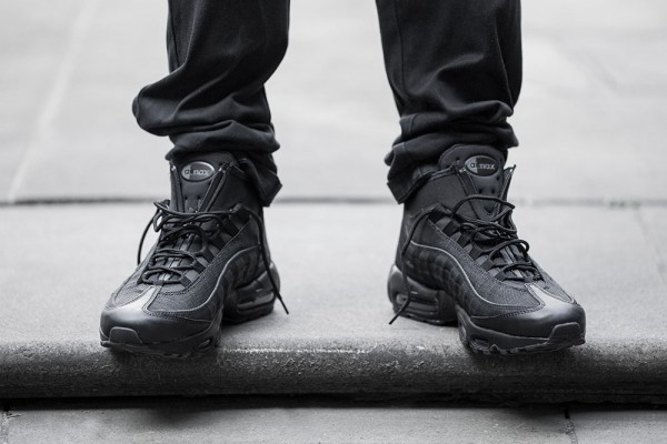 Nike Air Max 95 Sneakerboot - Black/Black 3