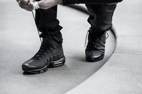 Nike Air Max 95 Sneakerboot - Black/Black 4