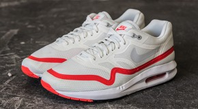 NIKE AIR MAX LUNAR1 – WHITE / MIST GREY – BRIGHT CRIMSON