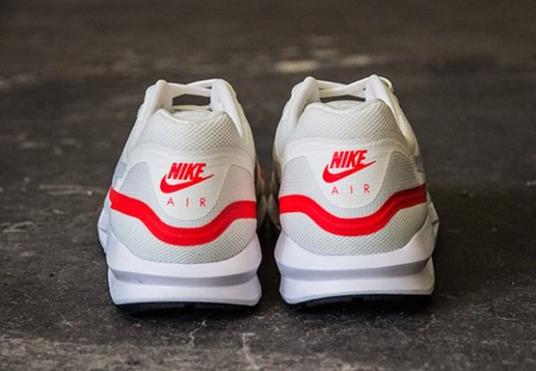 NIKE AIR MAX LUNAR1 – WHITE / MIST GREY - BRIGHT CRIMSON 3