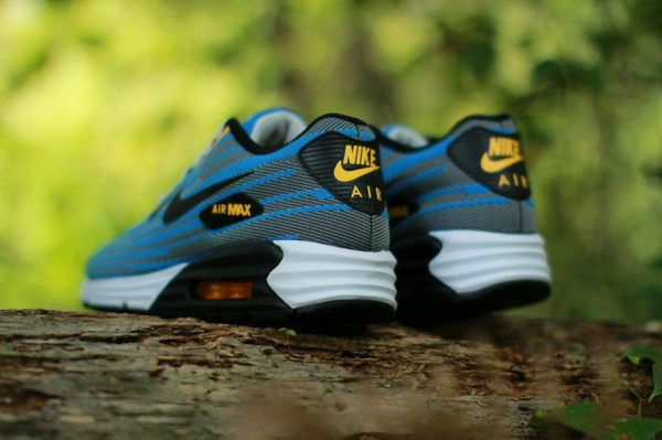 Nike Air Max Lunar90 Jacquard - Light Ash / Photo Blue 3