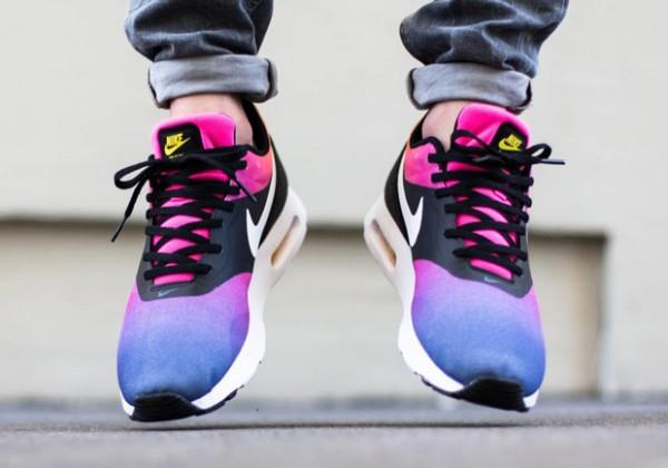 Nike Air Max Tavas - Black / White - Pink Pow - True Yellow 2