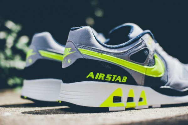 Nike Air Stab - Cool Grey / Volt - Black - White 3