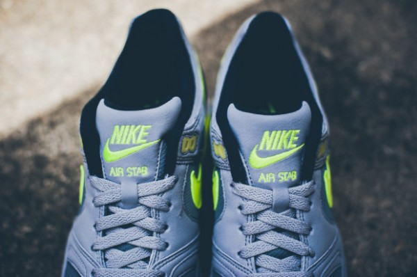 Nike Air Stab - Cool Grey / Volt - Black - White 4