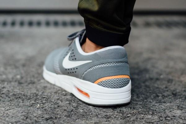 Nike SB Eric Koston 2 Max - Cool Grey / White - Total Orange 4