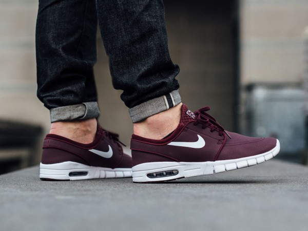 NIke SB Stefan Janoski Max Leather - Night Maroon/White 2