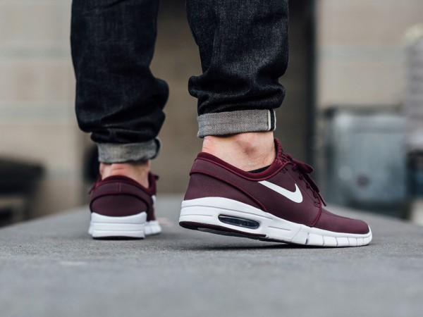 NIke SB Stefan Janoski Max Leather - Night Maroon/White 3