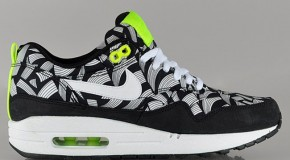 Liberty x Nike WMNS Air Max 1 – Black / White – Volt