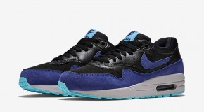 Nike WMNS Air Max 1 – Black / Deep Royal Blue – Tide Pool Blue – Pure Platinum