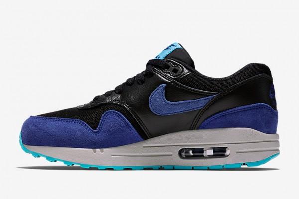 Nike WMNS Air Max 1 - Black / Deep Royal Blue - Tide Pool Blue - Pure Platinum 2
