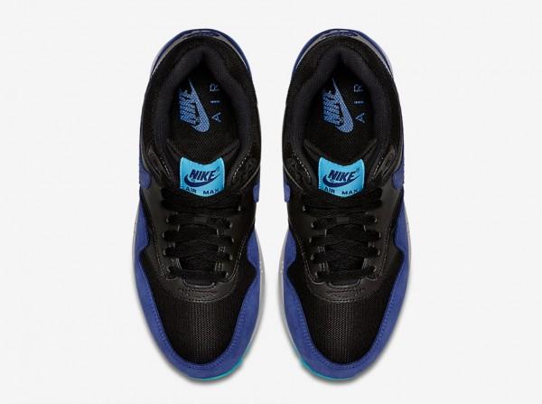 Nike WMNS Air Max 1 - Black / Deep Royal Blue - Tide Pool Blue - Pure Platinum 3