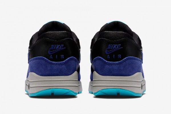Nike WMNS Air Max 1 - Black / Deep Royal Blue - Tide Pool Blue - Pure Platinum 4
