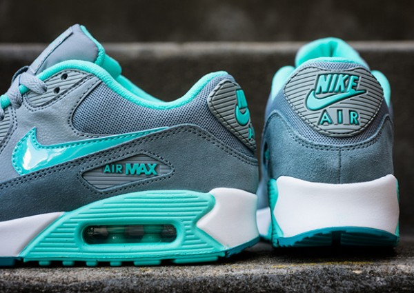 Nike WMNS Air Max 90 – Silver / Hyper Turquoise 2