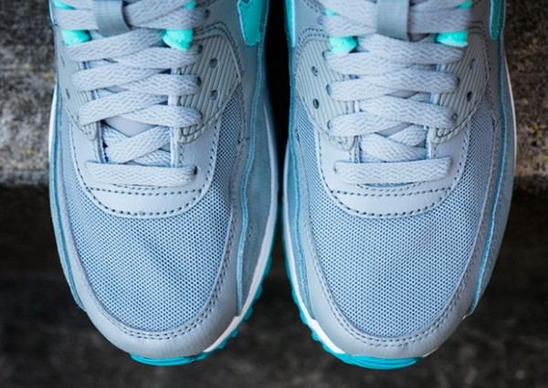 Nike WMNS Air Max 90 – Silver / Hyper Turquoise 4
