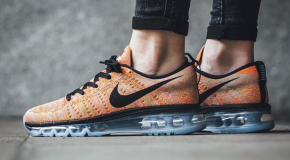 Nike WMNS Flyknit Max – Aluminum/Black-Hot Punch-Electrolime