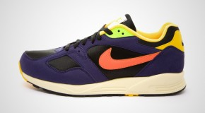 NIKE AIR BASE II VNTG – BLACK/LIGHT WILD MANGO-VARSITY MAIZE-IMPERIAL PURPLE