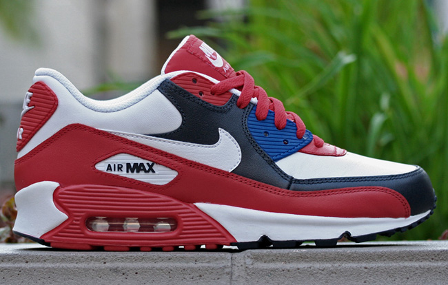 red white blue air max 90