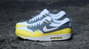 Nike Air Max 1 – White / Cool Grey / Volt