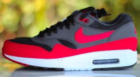 Nike Air Max 1 – Black / Red – Anthracite