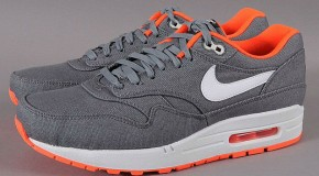 Nike-Air Max 1 Cool Grey Total Orange