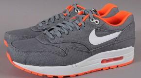 Nike-Air Max 1 Cool Grey Total Orange