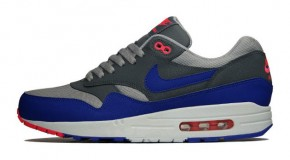 Nike Air Max 1 Essential – Medium Grey / Ultramarine – Dark Grey