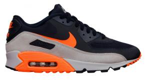 Nike Air Max 90 Premium – Dark Obsidian/Total Orange