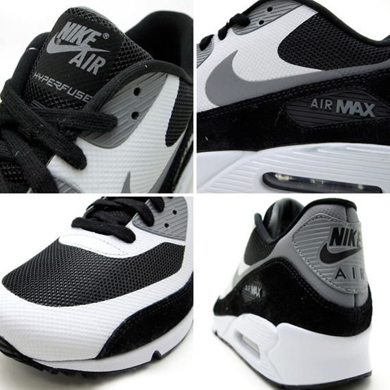 nike air max 90 hyperfuse black and white