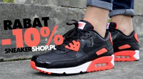 -10% rabatu na cały asortyment w sklepie www.Sneakershop.pl