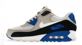 Nike Air Max 90 Premium Light Bone/Sl-Classic Stn-Hyper Blue