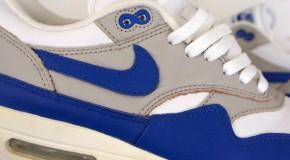 Nike Air Max 1 Leather – White – Royal Blue – 1999 Retro