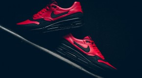 Nike Air Max 1 LTR Premium – Gym Red/Black