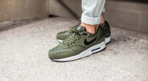 Nike Air Max 1 Woven – Carbon Green / Black – Lt BS Grey