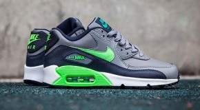 Nike Air Max 90 – Cool Grey/Voltage Green-Midnight Navy-White