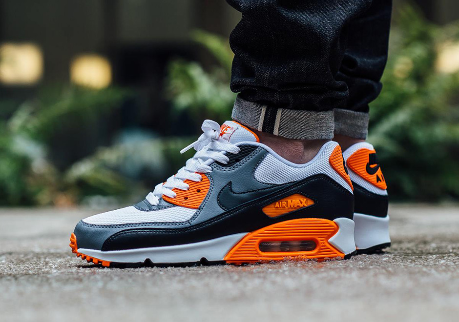 Nike Air Max 90 Women Essential Print Orange Grey White