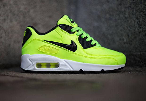 Nike Air Max 90 FB GS – Volt Black – Electric Green