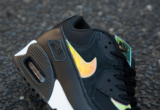nike air max 90 iridescent black