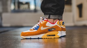 Nike Air Max 90 Premium – White/Metallic Gold Grn-Twny-Game Royal