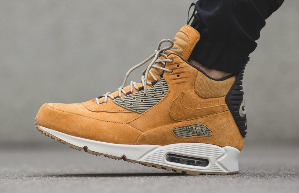 mens air max 90 sneakerboot yellow black