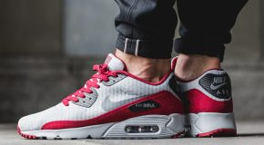 Nike Air Max 90 Ultra Essential – Wolf Grey/Dark Grey-Black-Team Red