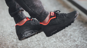 Nike Air Max 90 Ultra Moire FB – Black/Anthracite-Total Crimson