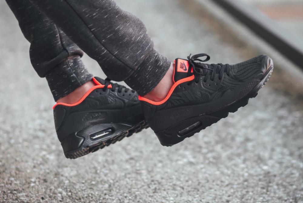 e5c4145d02 Nike Air Max 90 Ultra Moire FB – Black/Anthracite-Total Crimson ...