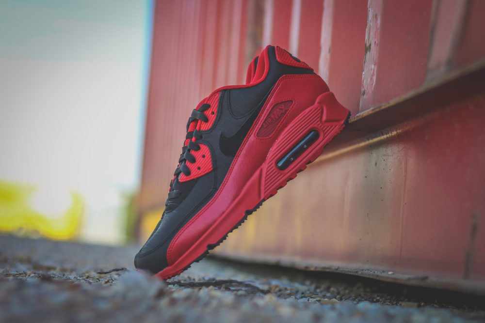 new style 1fe4a 02d0a Nike Air Max 90 Winter PRM – Gym RedBlack
